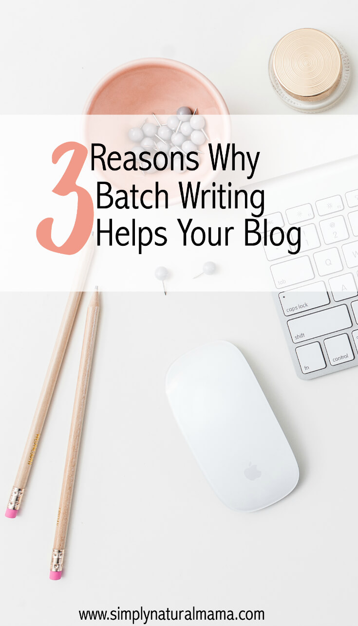 Wondering if batch writing is right for you? Here one blogger explains why batch writing is so important.