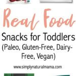 This is a fantastic collection of real food snacks for toddlers. Plus, they are all gluten-free, dairy-free, and Paleo. So no matter what diet your kids follow, there is something for you!