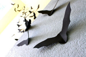 bats minimalist Halloween decorations