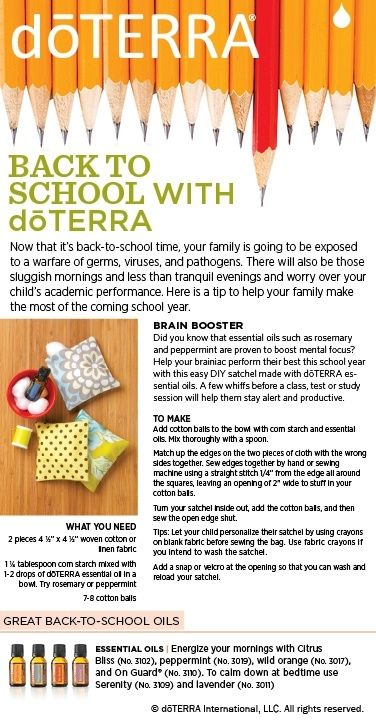 back to school essential oil recipes satchels