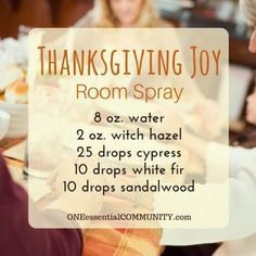 Thanksgiving Joy Room Spray