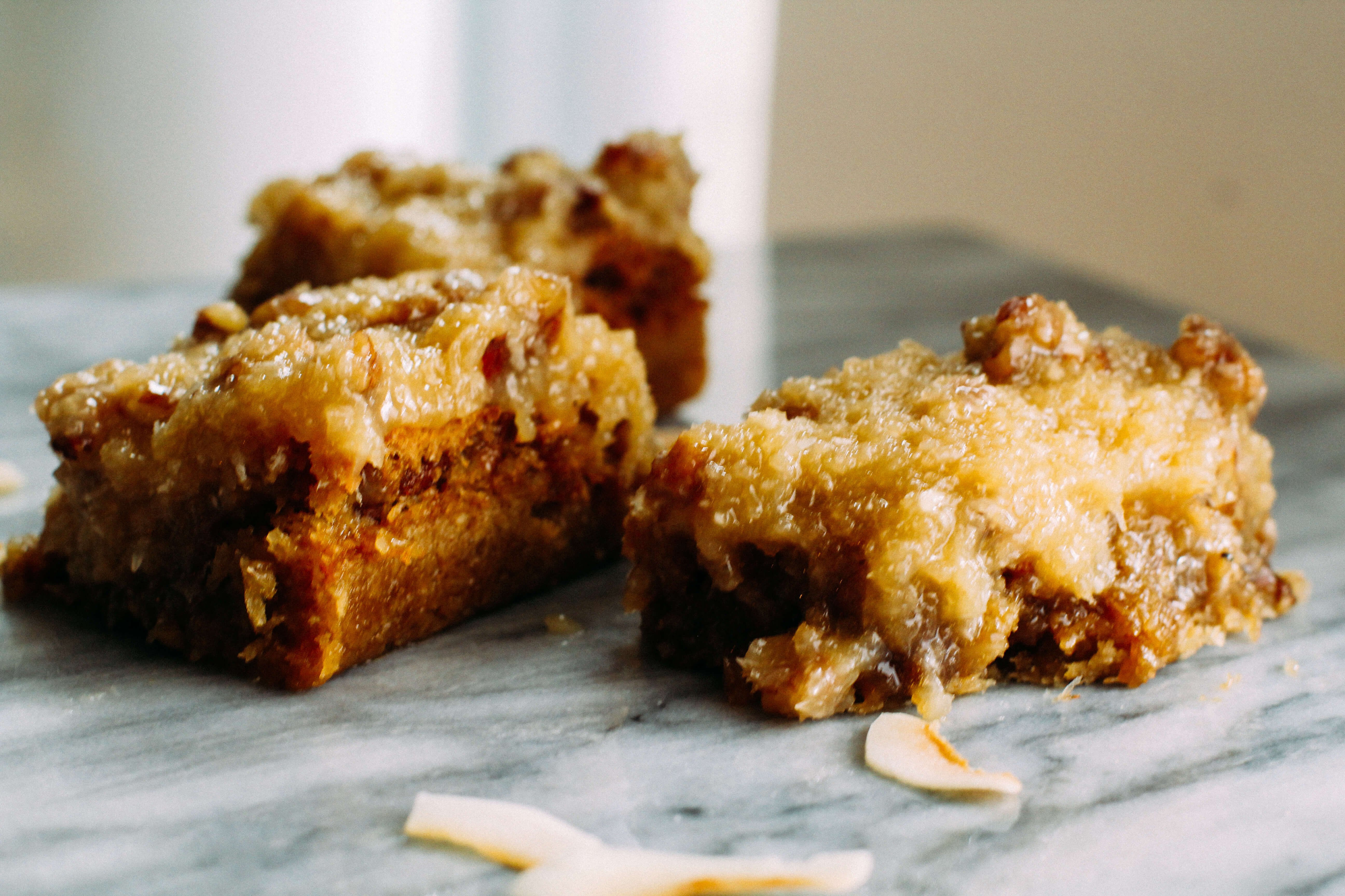 Coconut Pecan Bars recipe Simply Natural Mama