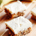 Moist Banana Bars with Cream Cheese Frosting