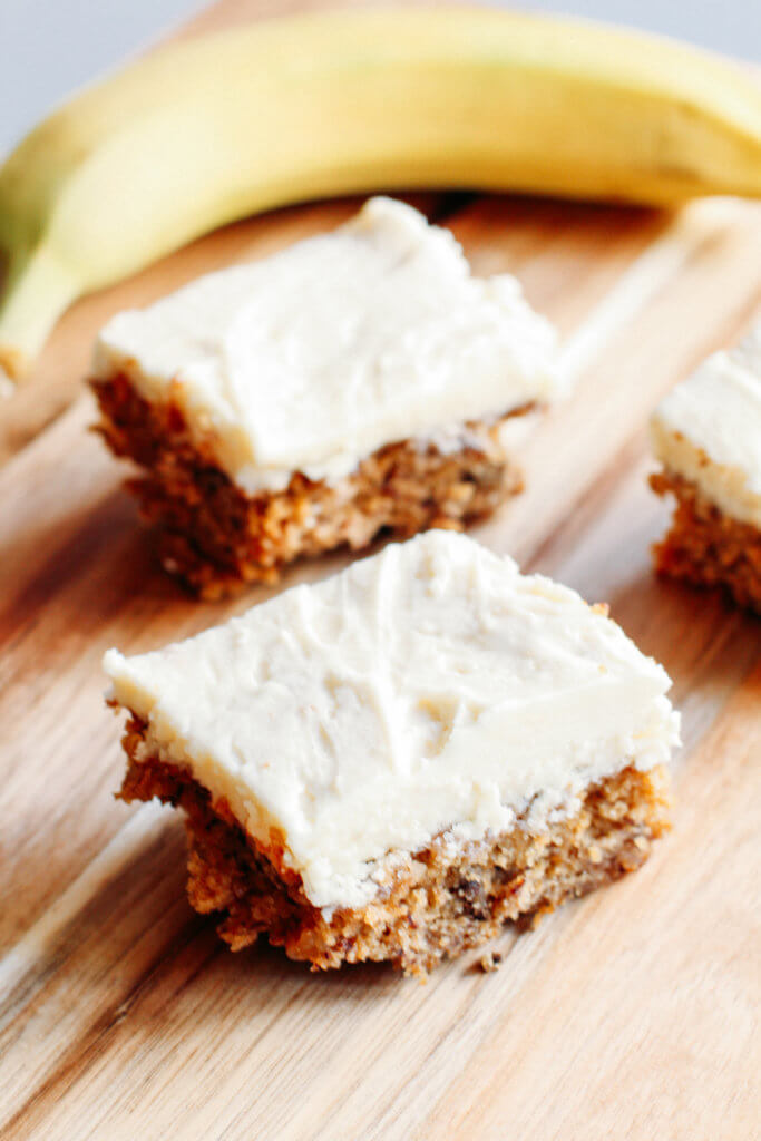 moist banana bars with cream cheese frosting recipe simply natural mama